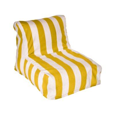Beachcrest Home Merrill Bean Bag Lounger Upholstery: Yellow/Off-White