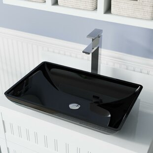 Glass Rectangular Vessel Bathroom Sink By MR Direct