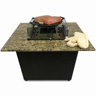 Firetainment The Venetian Granite Gas Fire Pit Table with Universal Cooking Package