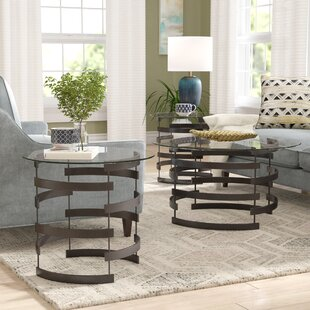 Bailey 3 Piece Coffee Table Set : black coffee and end table set - pezcame.com