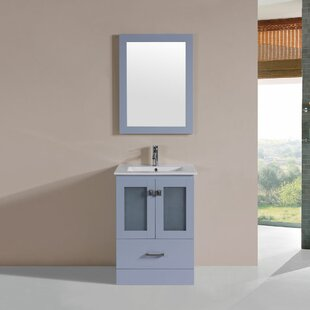 Lapoint Modern 24 Single Bathroom Vanity Set with Mirror ByLatitude Run