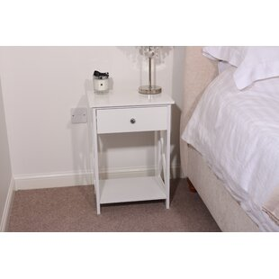 Vermont 1  Drawer Bedside Table By House Of Hampton