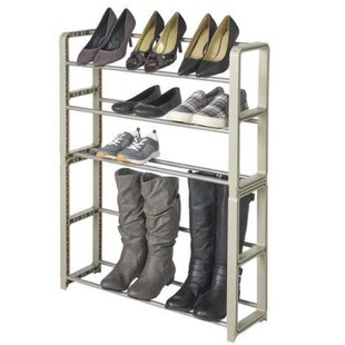 12 Pair Stackable Shoe Rack By Rebrilliant