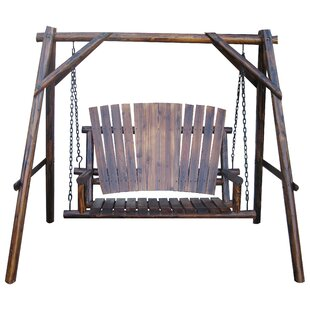 Char-Log Porch Swing with Stand by Leigh Country