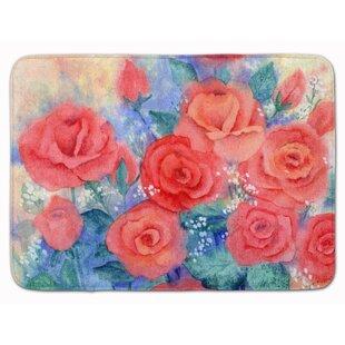 Roses Memory Foam Bath Rug