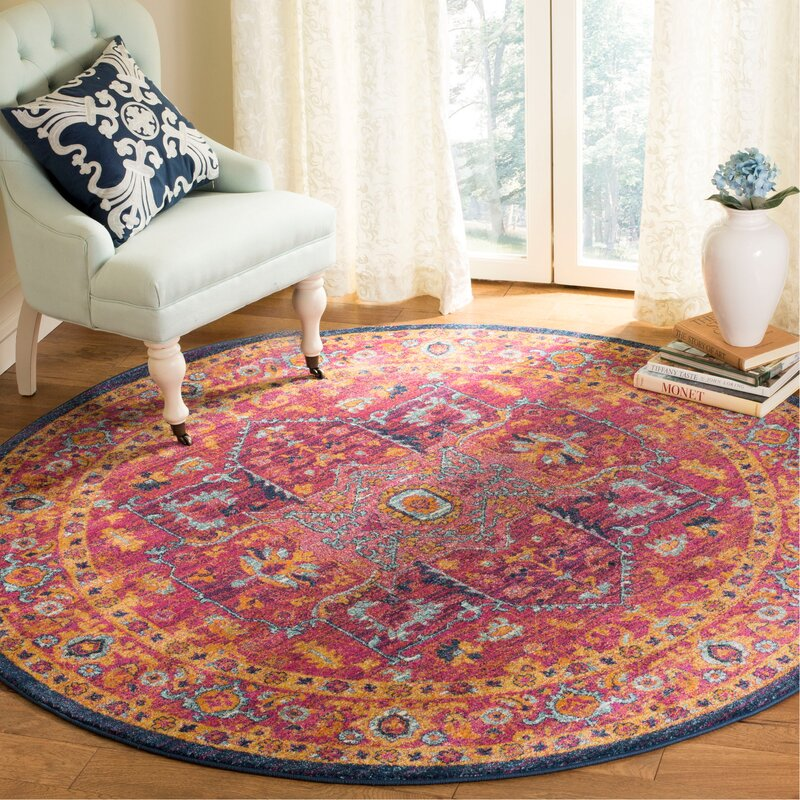 World Menagerie Schneider Cotton Fuchsia Area Rug & Reviews | Wayfair