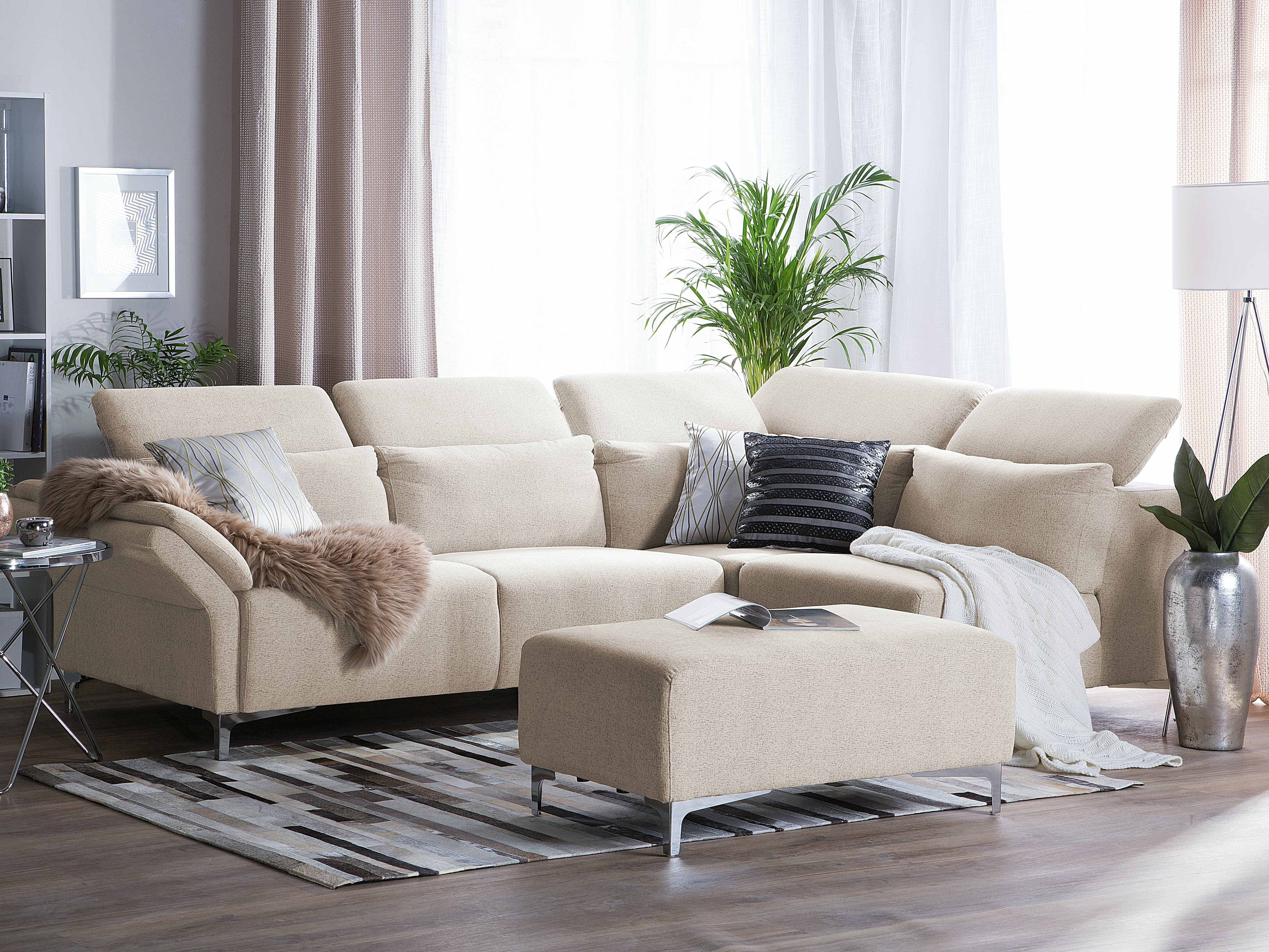 Astounding Robitaille Right Hand Facing Modular Sectional With Ottoman Ibusinesslaw Wood Chair Design Ideas Ibusinesslaworg