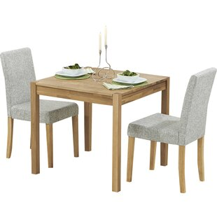 Rory Dining Set with 2 Chairs by August Grove