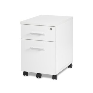 Gerth Locking Pedestal 2-Drawer Mobile Vertical Filing Cabinet by Ebern Designs Herry Up