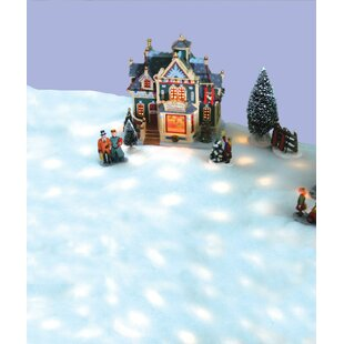 42 led snow blanket for christmas village displays