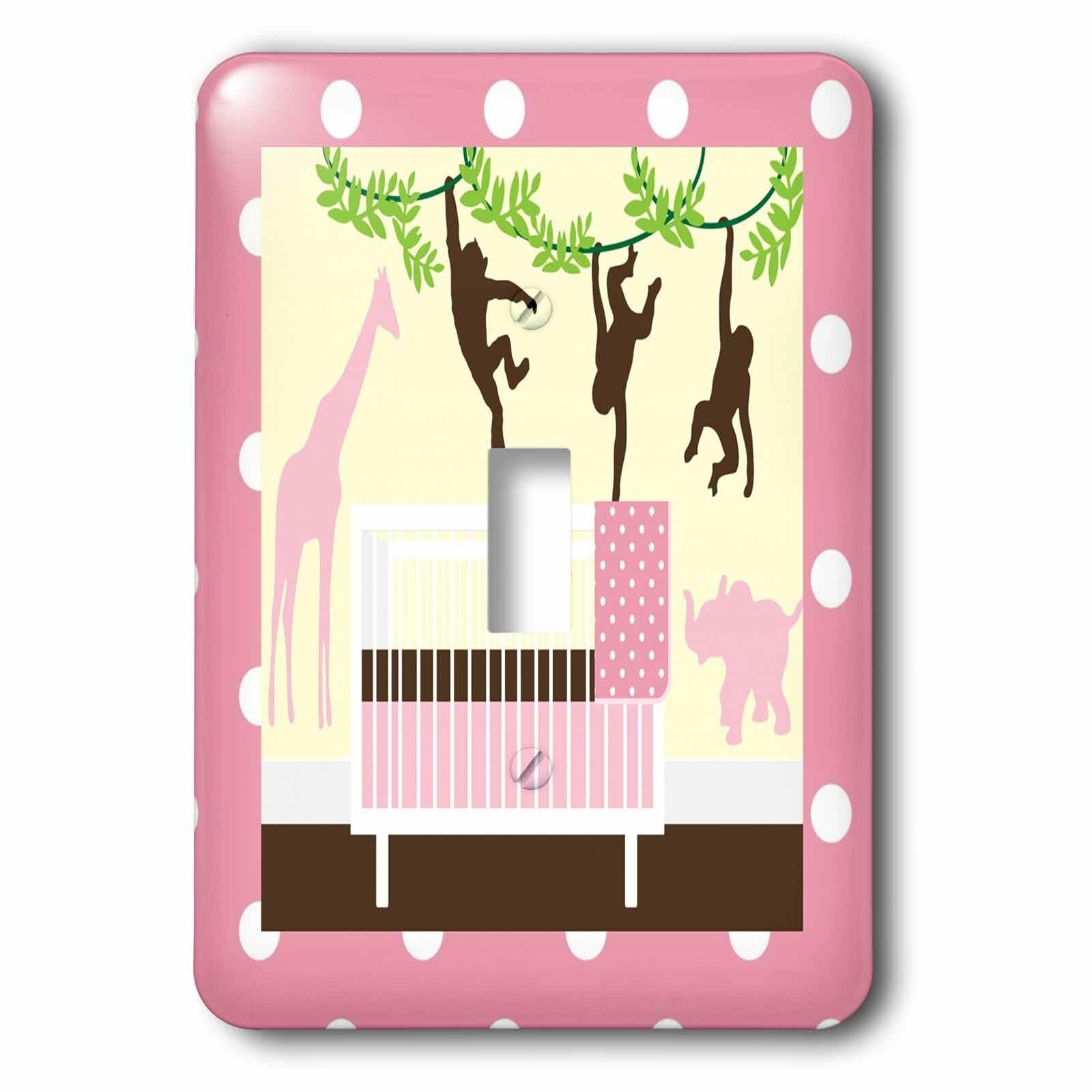 3drose Crib And Jungle Animals 1 Gang Toggle Light Switch Wall Plate Wayfair Ca