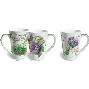 Barnett 2 Piece Wine Country Fine Porcelain Gift Mug Set