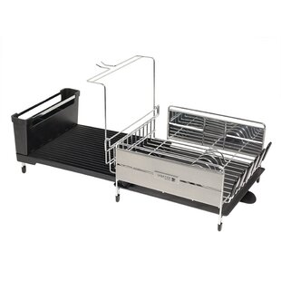 Sabatier Expandable Compact Dish Rack with Wine Glass Holder