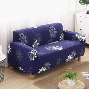 Elegant Polyester and Spandex Box Cushion Loveseat Slipcover