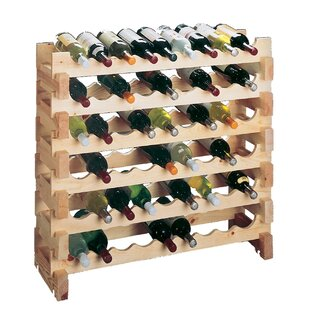 Country Pine Floor Wine Rack (Set of 2) b..