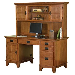 Ferryhill 4 Drawer Pedestal Computer Desk with Hutch