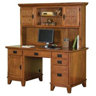 Ferryhill 4 Drawer Pedestal Computer Desk with Hutch