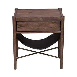 Union Rustic Mervela Modern Retro Style End Table
