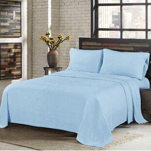 Morgan Home Super Soft Fleece Solid Color Sheet Set
