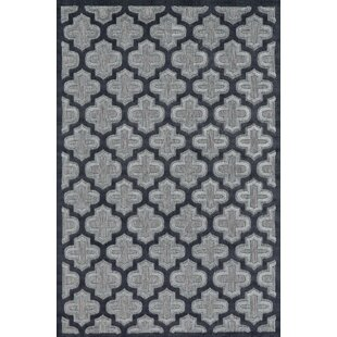 Saul Black/Charcoal Indoor/Outdoor Area Rug