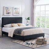 Pooler Queen Upholstered Standard Bed by Wrought Studio™