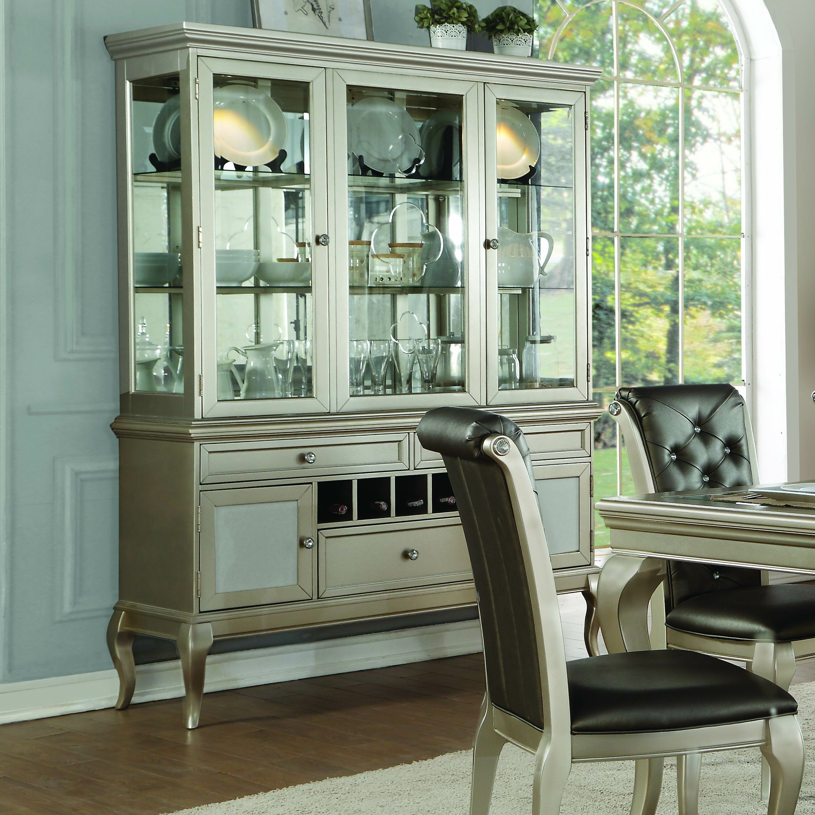 Rosdorf Park Marisol Buffet Table With Dining Hutch | Wayfair