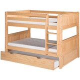 Burkley Low Twin over Twin Bunk Bed with Trundle