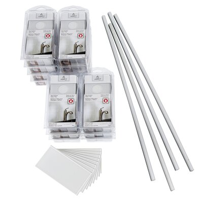 Aspect 3 x 6 Glass Peel & Stick Subway Tile Kit in Frost