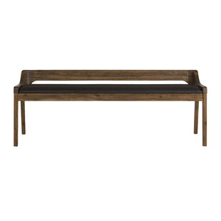 Bourgoin Faux Leather Bench by Foundry Se..