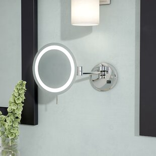 Online Reviews LED 8x Magnifying Wall Mount Makeup Mirror By Symple Stuff