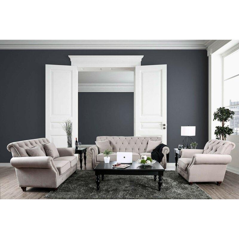 Rosdorf Park Alexys Modern Victorian Configurable Living Room Set ...