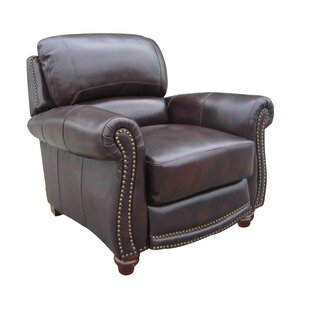 Cheap Dorcas Leather Manual Recliner Canora Grey