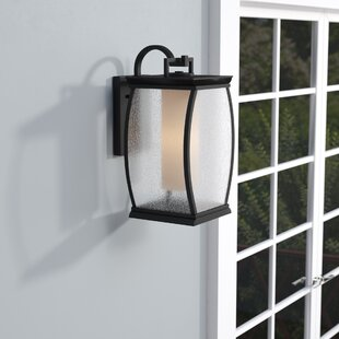 Reviews Buntin Transitional 1-Light Outdoor Wall Lantern By Mercury Row