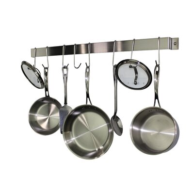 Stainless Steel Wall Mounted Pot Rack Rack It Up!