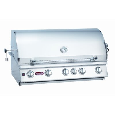 Brahma 5-Burner Built-In Propane Gas Grill Bull Outdoor Fuel Type: Natural Gas