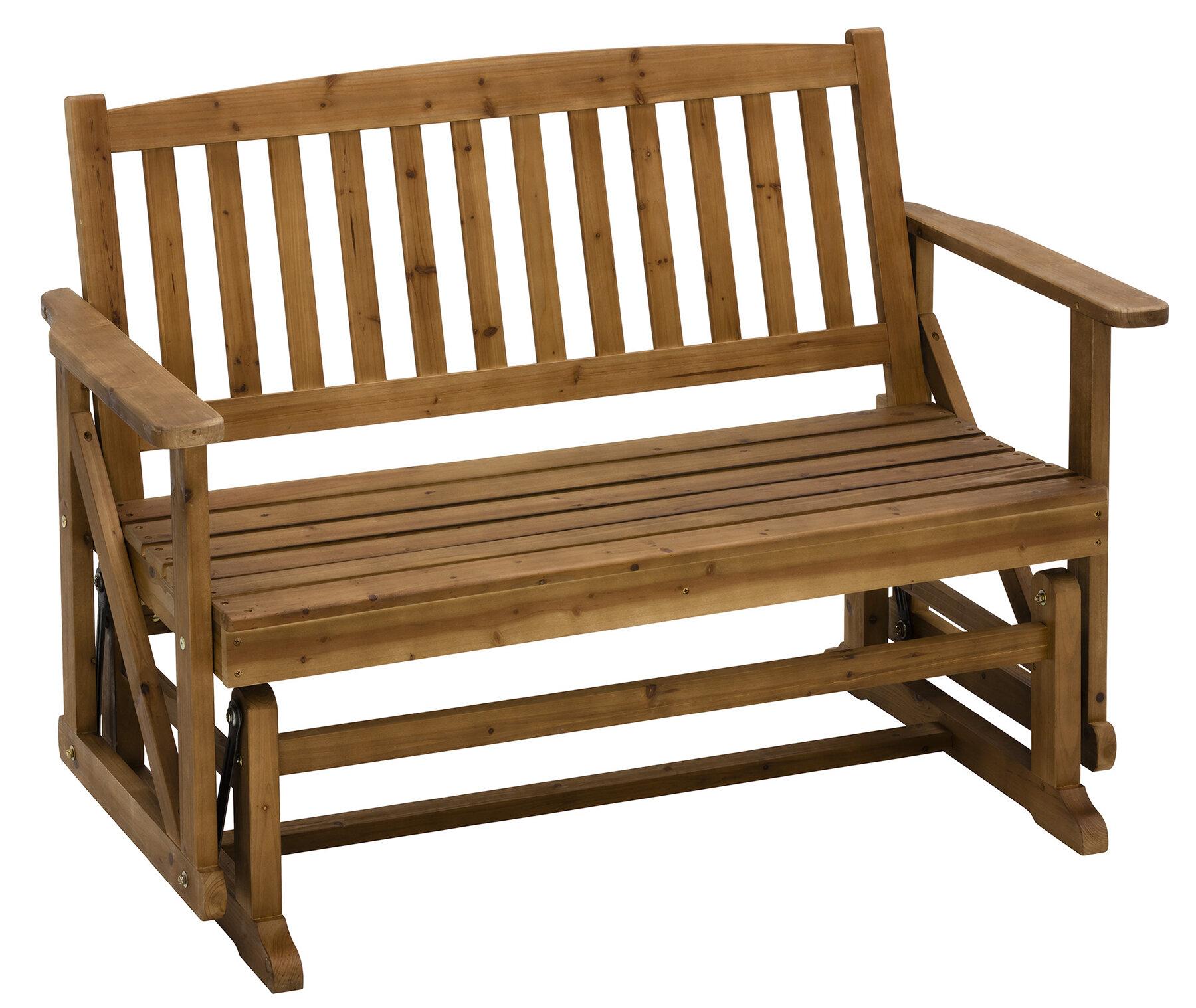 Jack-Post Glider Wooden Garden Bench | Wayfair