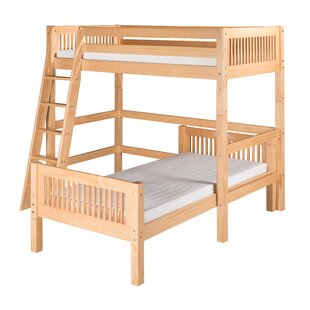 Best Price Oakwood Twin over Twin L-Shape Bunk Bed by Harriet Bee Reviews (2019) & Buyer's Guide