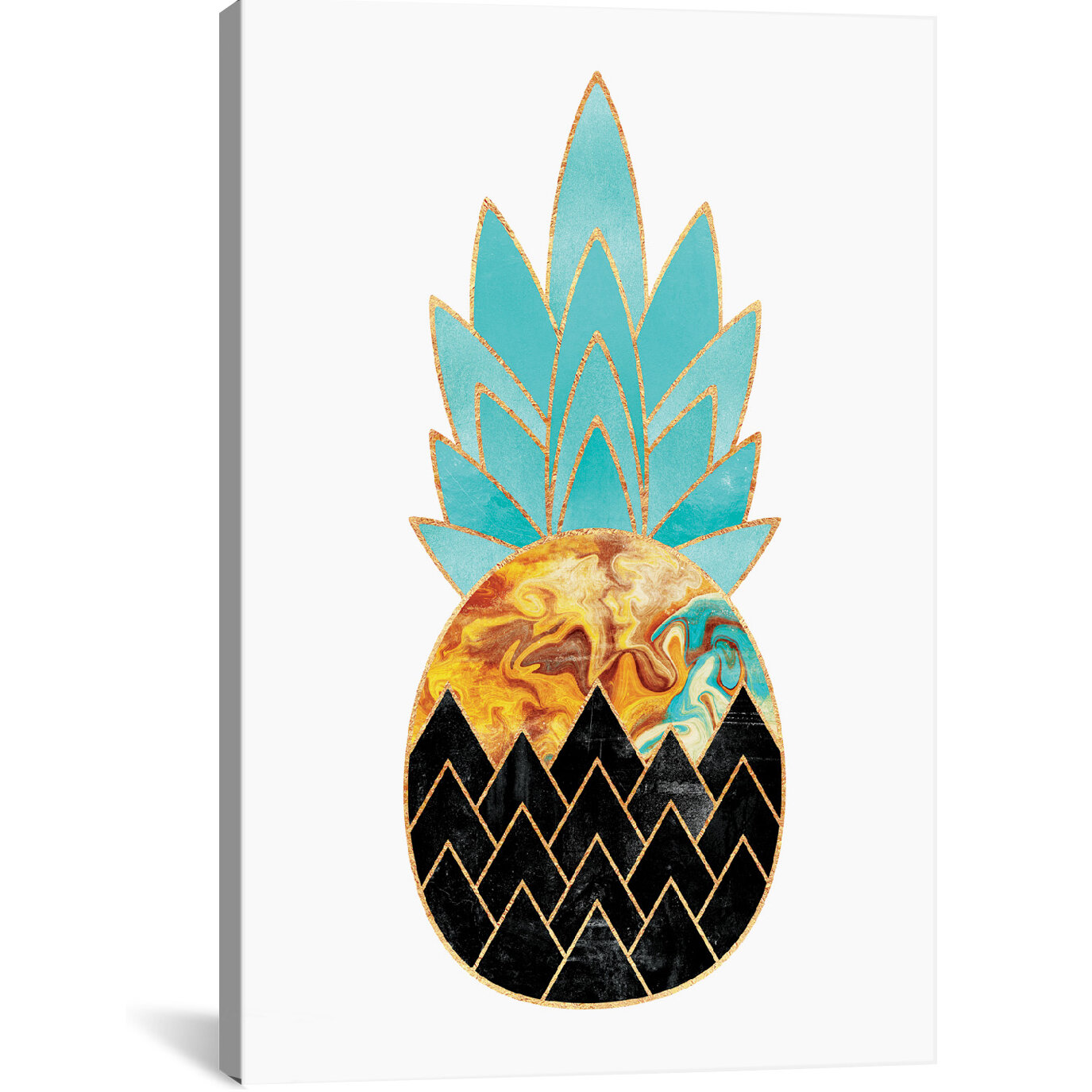 Wrought Studio Precious Pineapple Graphic Art On Wrapped Canvas Reviews Wayfair