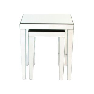 Quinnlynn 2 Piece Nesting Table Set by House of Hampton