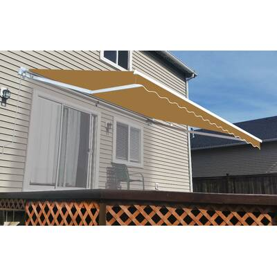 Songmics 118 1 8 L x 70 7 8 H Retractable Patio Side Awning