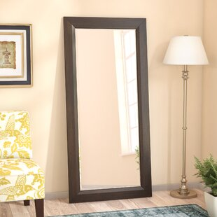 Warthen Rectangle Deep Walnut Traditional Beveled Distressed Wall Mirror by Charlton Home