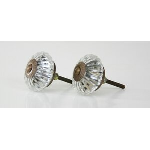 Marigold Glass Crystal Knob (Set of 2)