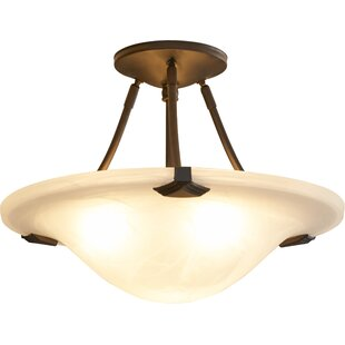 Clarksville 3-Light Semi-Flush Mount