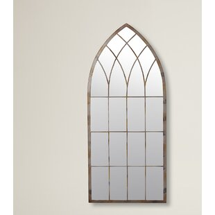 Window mirrors youll love wayfair cathedral windowpane style garden mirror teraionfo
