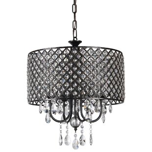 PPM Imports Afaura 4-Light Crystal Chandelier