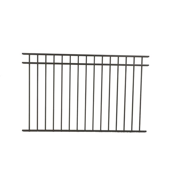 Fortress Building Products Athens 4 Ft X 6 Ft Three Rail Powder Coated Metal Fence Panel Wayfair