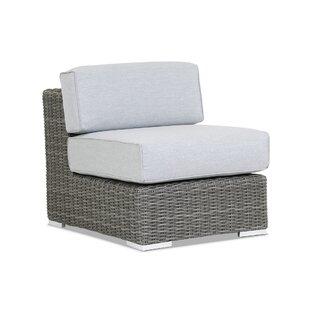 Sunset West Emerald II Armless Patio Chair with Sunbrella Cushion