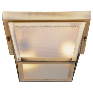 Ebern Designs Holter 2-Light Outdoor Flush Mount