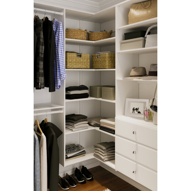 "Kim 30"" W Closet System Corner Tower Kit"