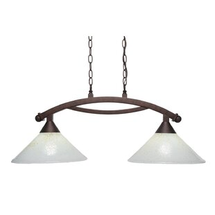 Blankenship 2-Light 100W Steel Kitchen Island Pendant by Fleur De Lis Living